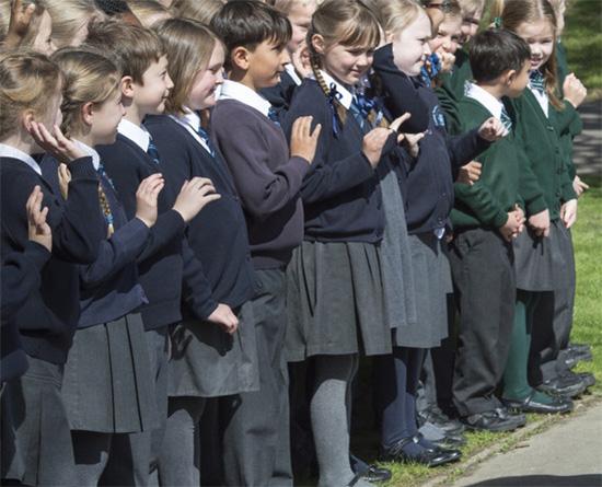 Uniformes sur-mesure dans une école